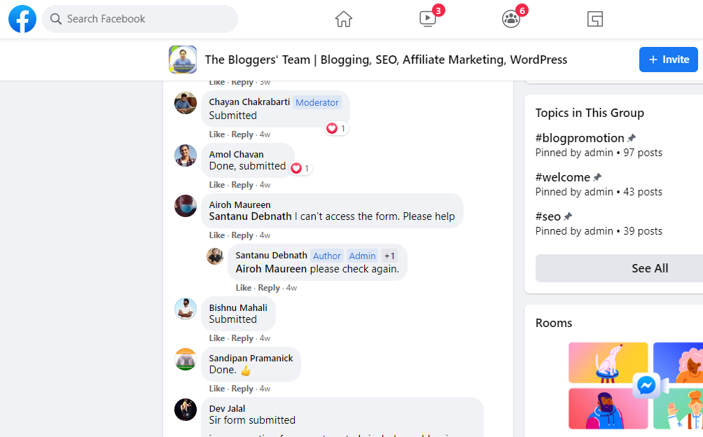 Busy Facebook group